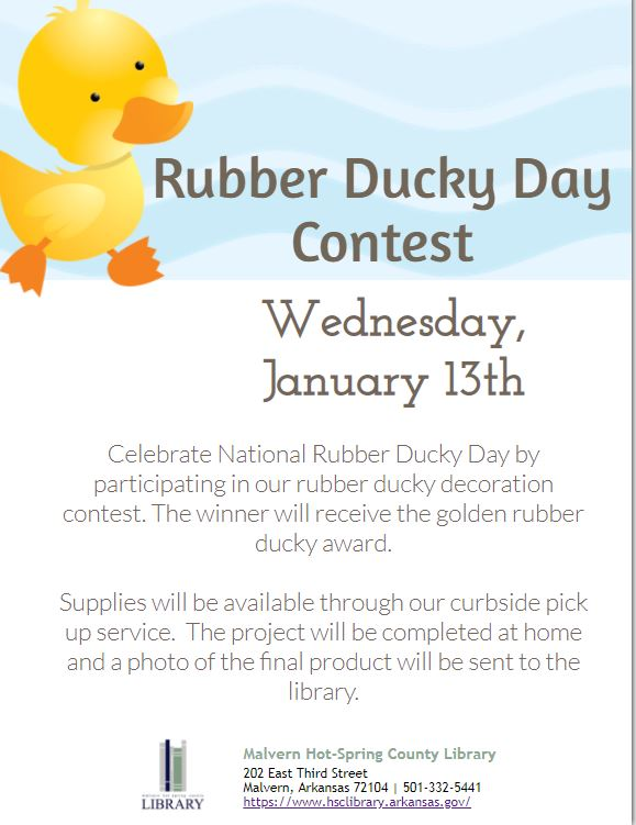 13th - Rubber Ducky Day