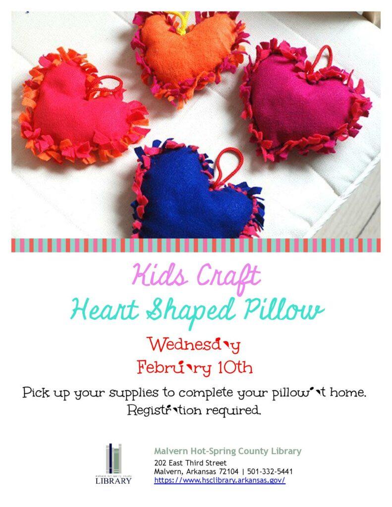 10 February 2021 - Kids Craft - Heart Shaped Pillow