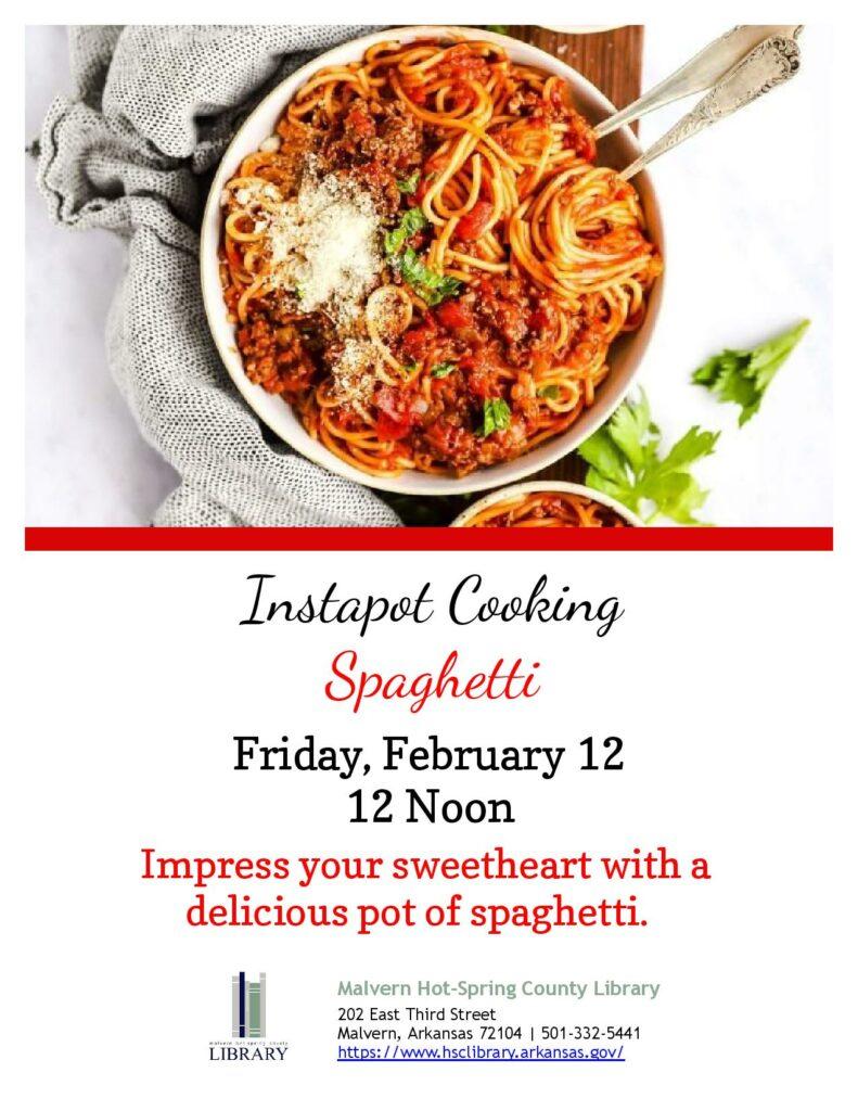12 february 2021 - Instapot Cooking - Spaghetti