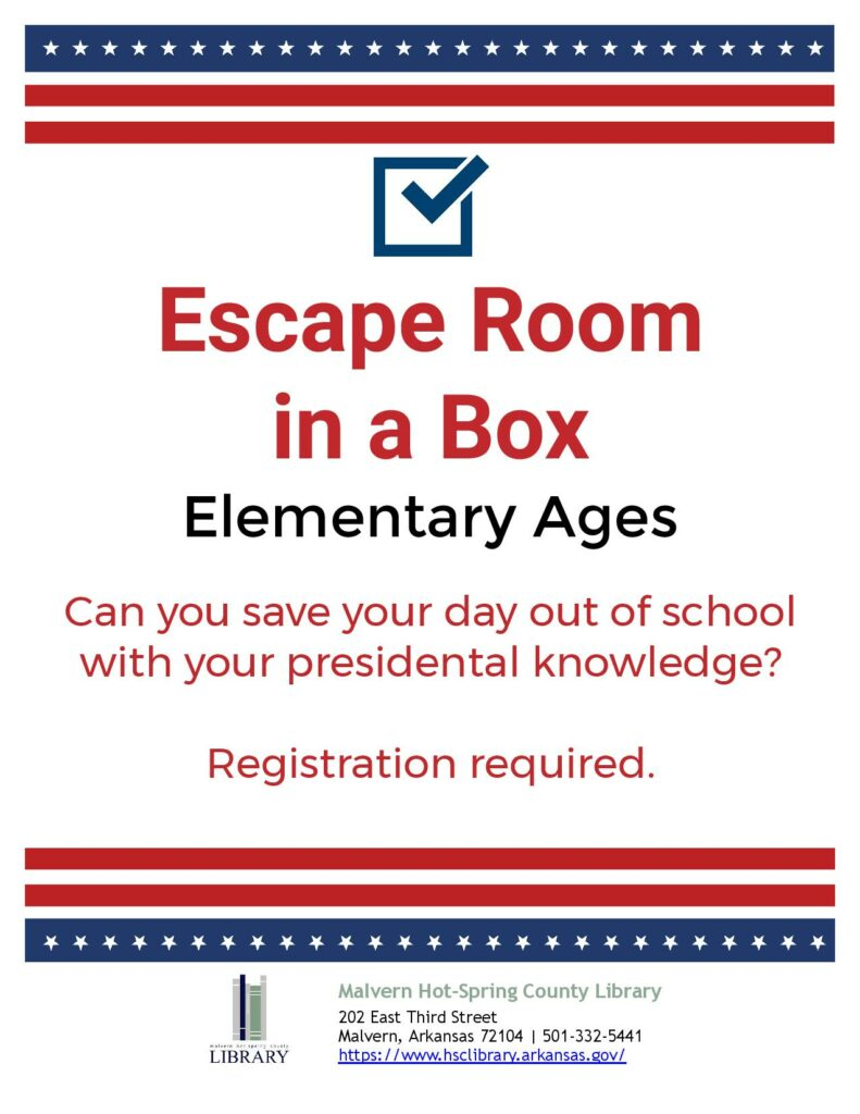 18 February 2021 - Escape Room in a Box - Elementary