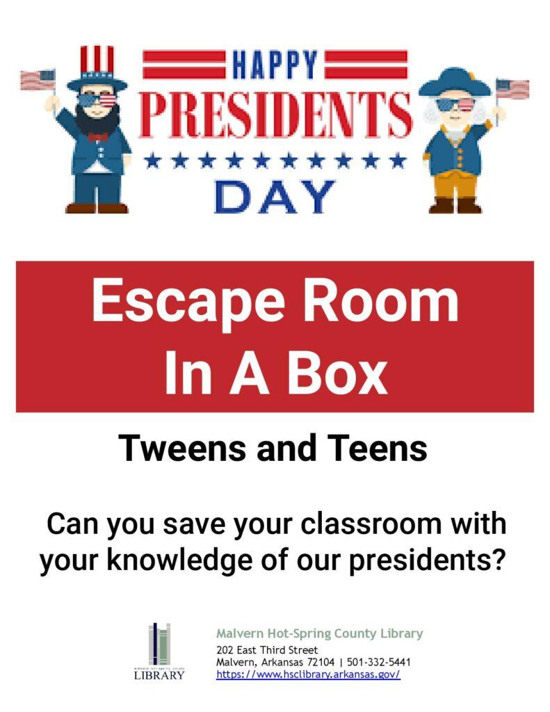18 February 2021 - Escape Room in a Box - Tweens & Teens