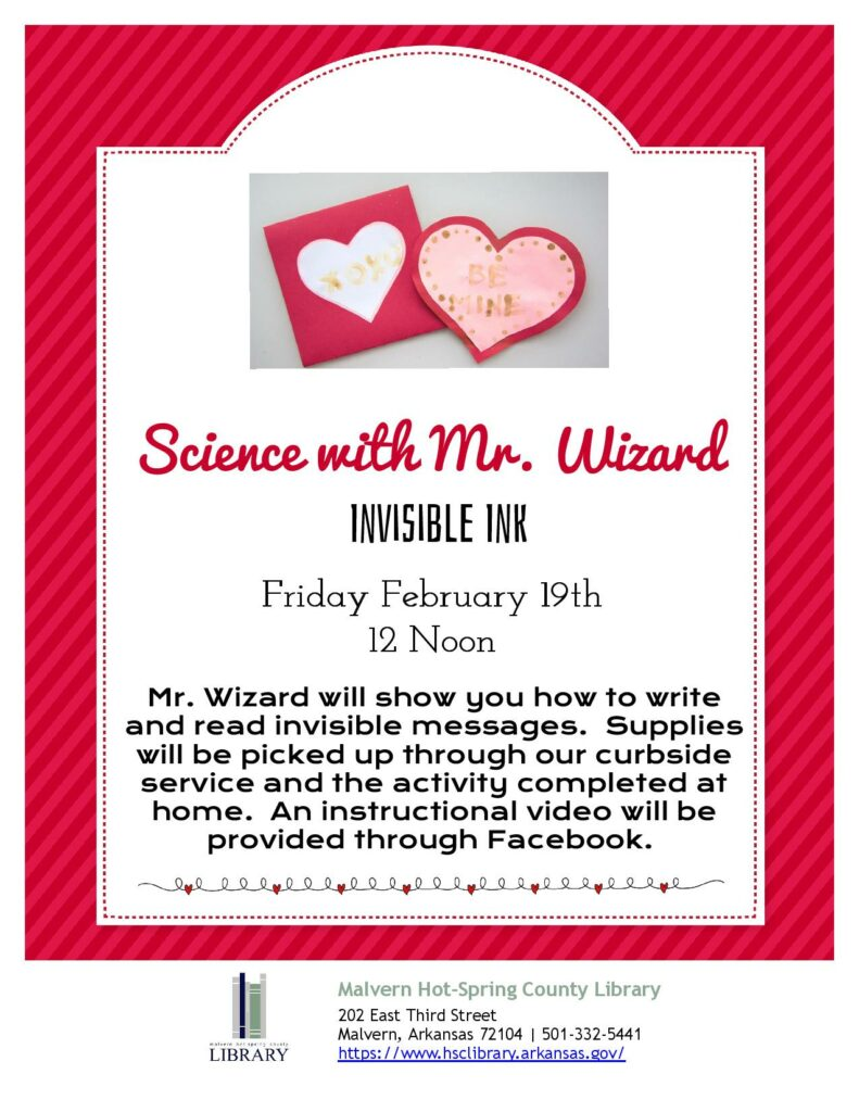 19 February 2021 - Science with Mr. Wizard - Invisible Ink