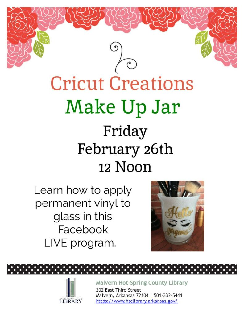 26 February 2021 - Cricut Creations - Makeup Jar