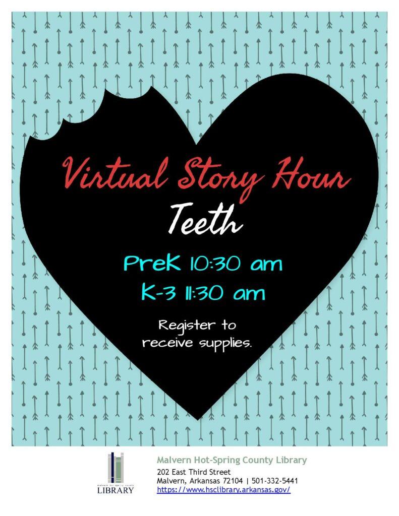 8 February 2021 - Virtual Story Hour - Teeth